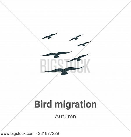 Bird migration icon isolated on white background from autumn collection. Bird migration icon trendy