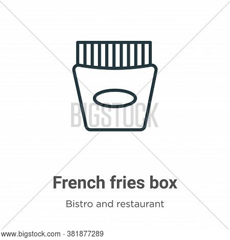French fries box icon isolated on white background from bistro and restaurant collection. French fri