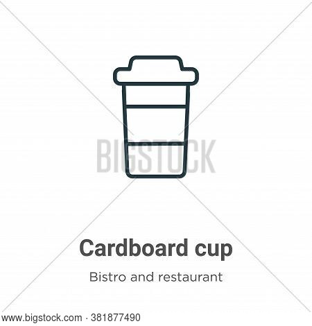 Cardboard cup icon isolated on white background from bistro and restaurant collection. Cardboard cup