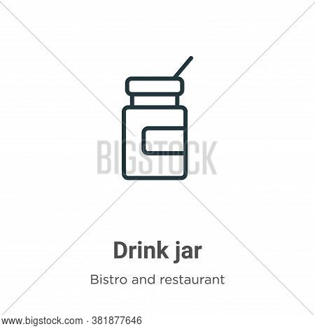 Drink jar icon isolated on white background from bistro and restaurant collection. Drink jar icon tr