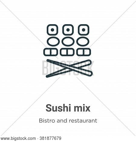 Sushi mix icon isolated on white background from bistro and restaurant collection. Sushi mix icon tr