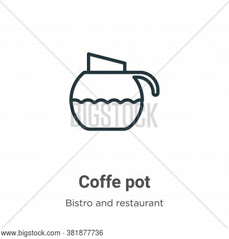 Coffe pot icon isolated on white background from bistro and restaurant collection. Coffe pot icon tr