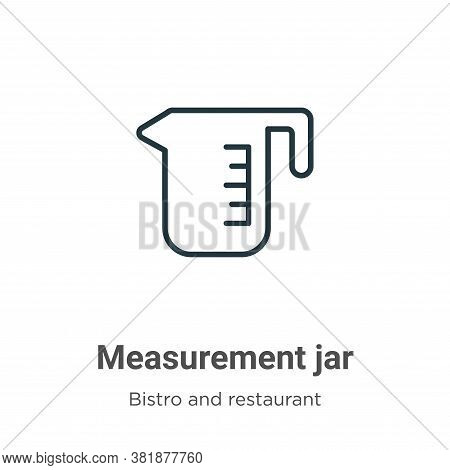 Measurement jar icon isolated on white background from bistro and restaurant collection. Measurement