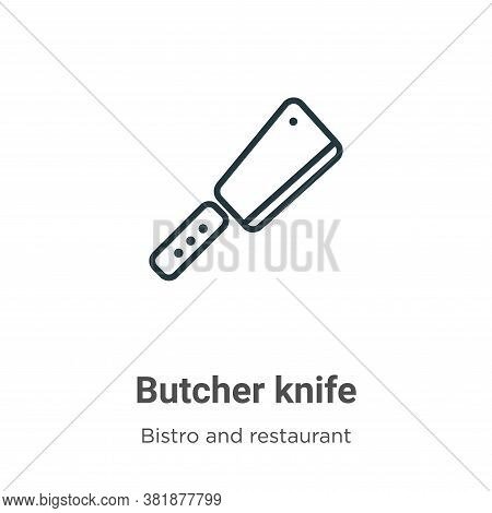 Butcher knife icon isolated on white background from bistro and restaurant collection. Butcher knife
