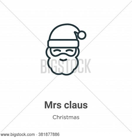 Mrs claus icon isolated on white background from christmas collection. Mrs claus icon trendy and mod