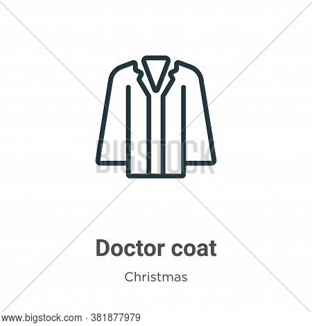 Doctor coat icon isolated on white background from christmas collection. Doctor coat icon trendy and