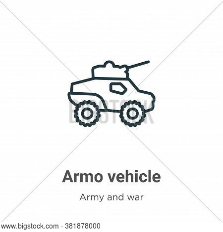 Armored vehicle icon isolated on white background from army and war collection. Armored vehicle icon
