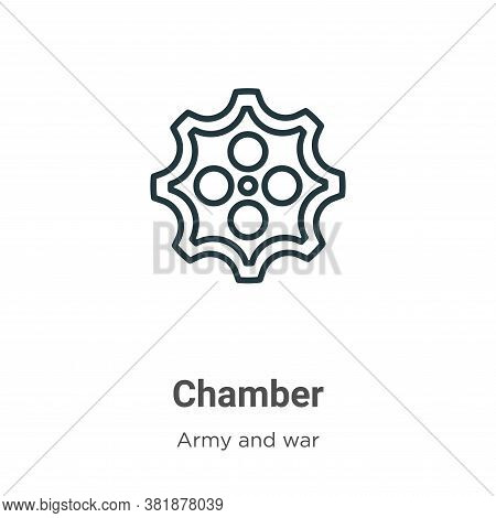 Chamber icon isolated on white background from army and war collection. Chamber icon trendy and mode