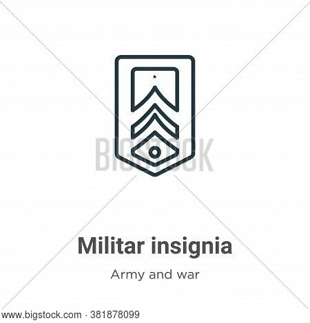 Militar insignia icon isolated on white background from army and war collection. Militar insignia ic