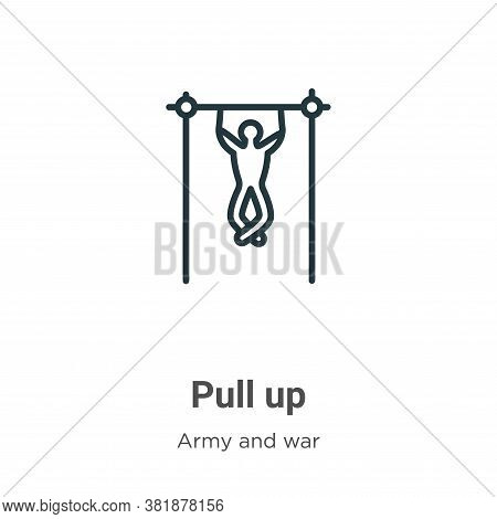 Pull up icon isolated on white background from army and war collection. Pull up icon trendy and mode