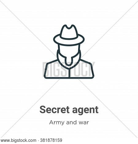 Secret agent icon isolated on white background from army and war collection. Secret agent icon trend