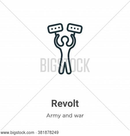 Revolt icon isolated on white background from army and war collection. Revolt icon trendy and modern