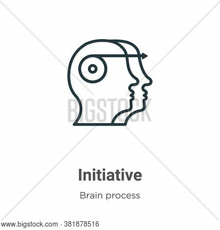 Initiative icon isolated on white background from brain process collection. Initiative icon trendy a