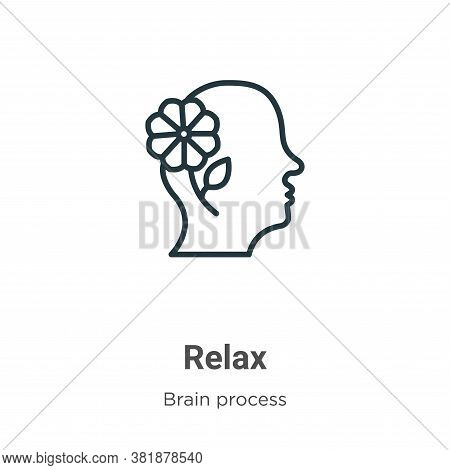 Relax icon isolated on white background from brain process collection. Relax icon trendy and modern