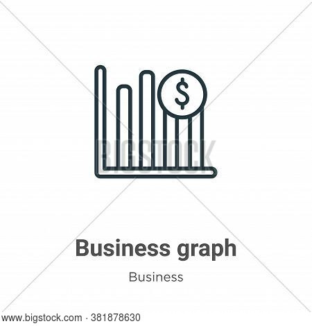 Business graph icon isolated on white background from business collection. Business graph icon trend