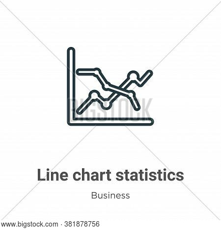 Line chart statistics icon isolated on white background from business collection. Line chart statist
