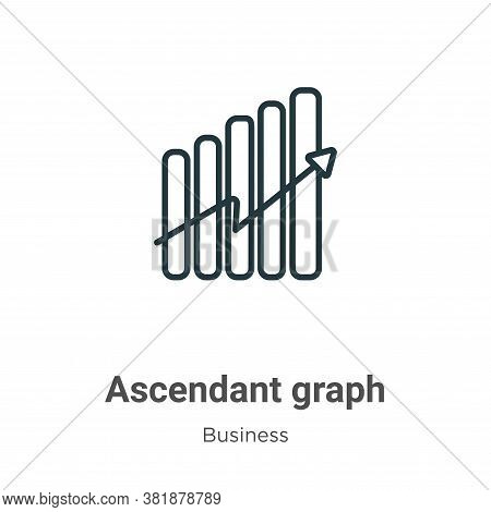 Ascendant graph icon isolated on white background from business collection. Ascendant graph icon tre