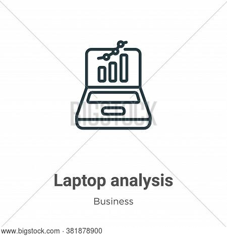 Laptop analysis icon isolated on white background from business collection. Laptop analysis icon tre