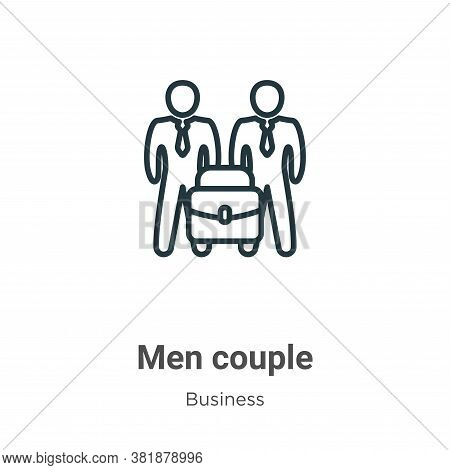 Men couple icon isolated on white background from business collection. Men couple icon trendy and mo