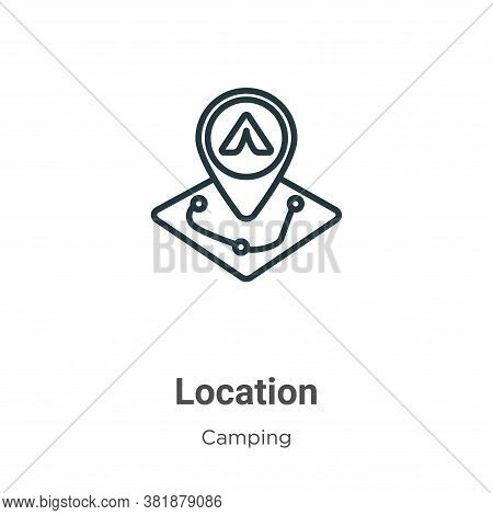 Location icon isolated on white background from camping collection. Location icon trendy and modern