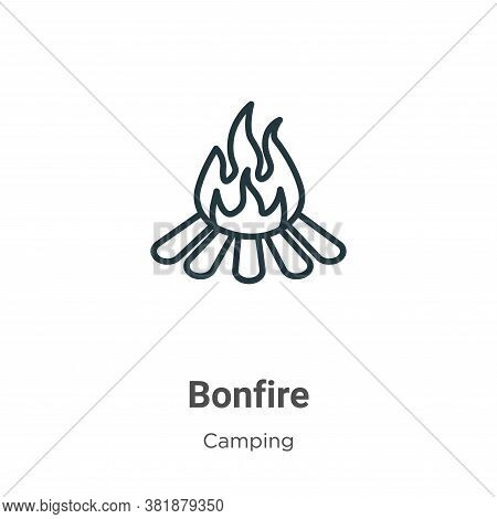Bonfire icon isolated on white background from camping collection. Bonfire icon trendy and modern Bo