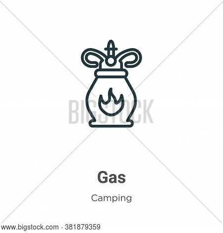 Gas icon isolated on white background from camping collection. Gas icon trendy and modern Gas symbol
