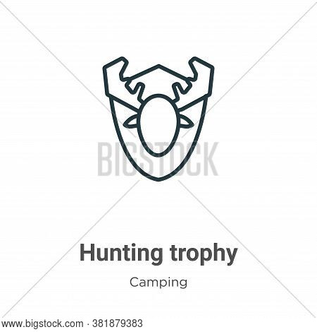 Hunting trophy icon isolated on white background from camping collection. Hunting trophy icon trendy