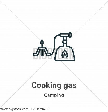 Cooking gas icon isolated on white background from camping collection. Cooking gas icon trendy and m