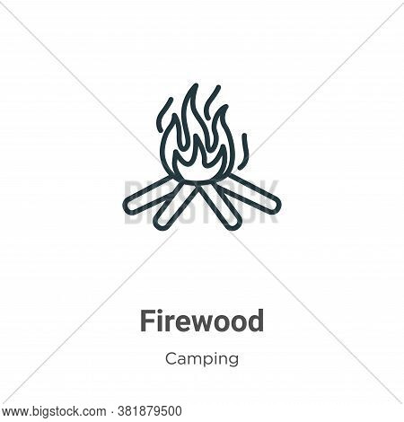 Firewood icon isolated on white background from camping collection. Firewood icon trendy and modern