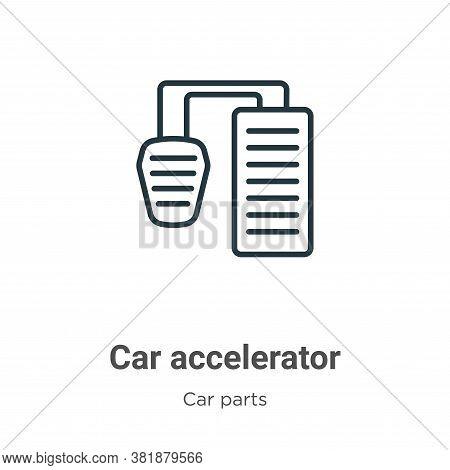 Car accelerator icon isolated on white background from car parts collection. Car accelerator icon tr