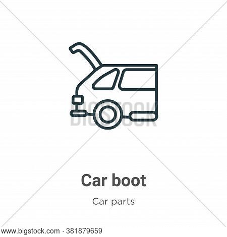 Car boot icon isolated on white background from car parts collection. Car boot icon trendy and moder