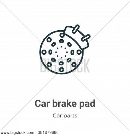 Car brake pad icon isolated on white background from car parts collection. Car brake pad icon trendy