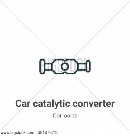 Car catalytic converter icon isolated on white background from car parts collection. Car catalytic c