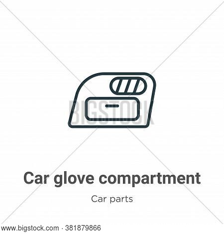 Car glove compartment icon isolated on white background from car parts collection. Car glove compart