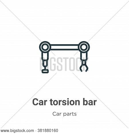 Car torsion bar icon isolated on white background from car parts collection. Car torsion bar icon tr