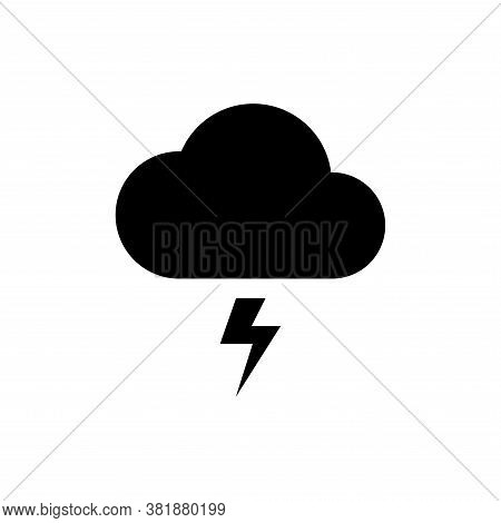 Weather Icon Vector. Weather Icon Black On White Background. Weather Icon Simple And Modern. Weather
