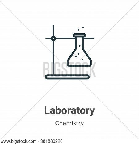 Laboratory icon isolated on white background from chemistry collection. Laboratory icon trendy and m