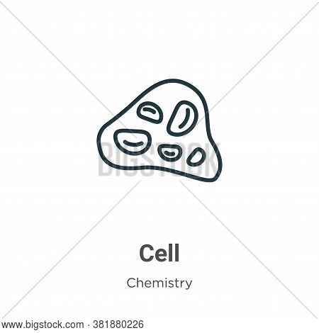 Cell icon isolated on white background from chemistry collection. Cell icon trendy and modern Cell s