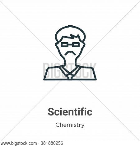 Scientific icon isolated on white background from chemistry collection. Scientific icon trendy and m