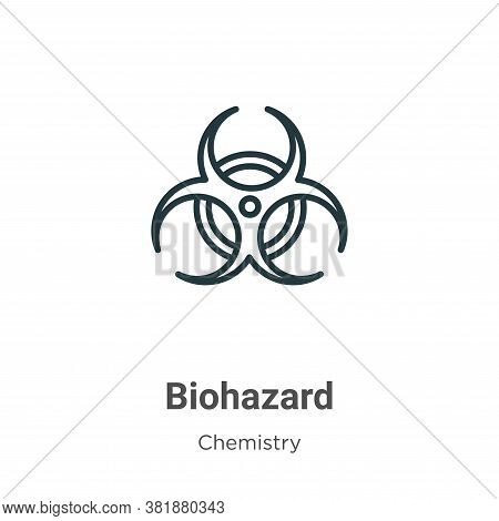 Biohazard icon isolated on white background from chemistry collection. Biohazard icon trendy and mod