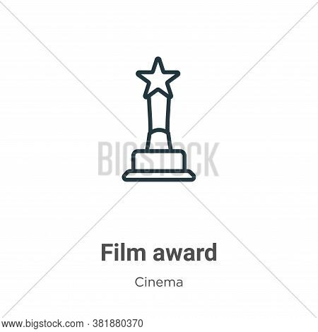 Film award icon isolated on white background from cinema collection. Film award icon trendy and mode