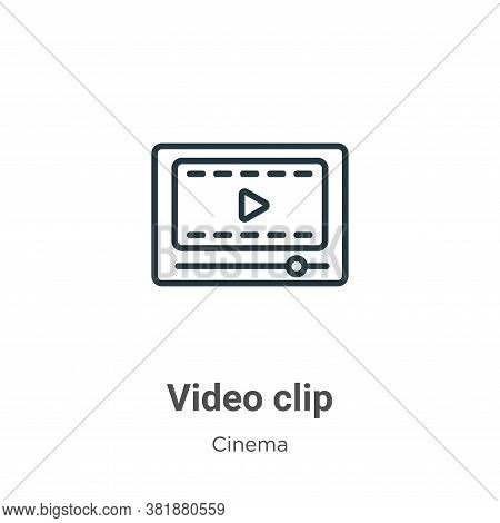Video clip icon isolated on white background from cinema collection. Video clip icon trendy and mode