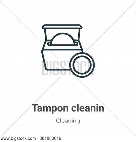 Tampon cleanin icon isolated on white background from cleaning collection. Tampon cleanin icon trend