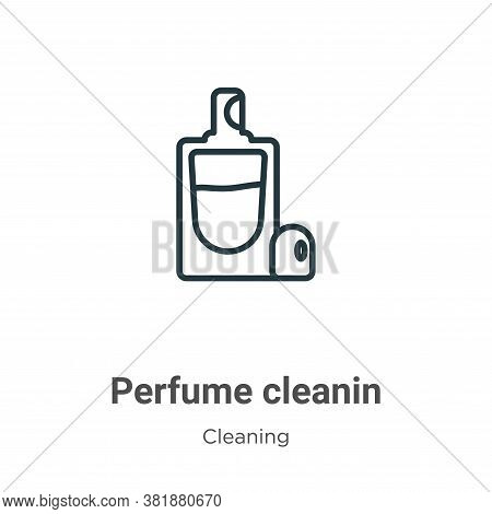 Perfume cleanin icon isolated on white background from cleaning collection. Perfume cleanin icon tre