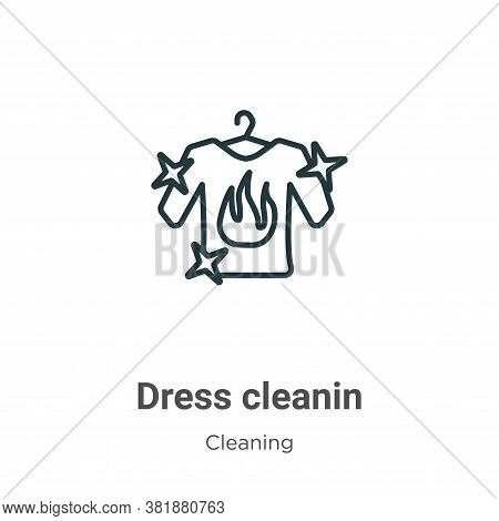 Dress cleanin icon isolated on white background from cleaning collection. Dress cleanin icon trendy