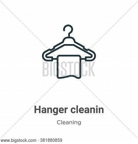 Hanger cleanin icon isolated on white background from cleaning collection. Hanger cleanin icon trend