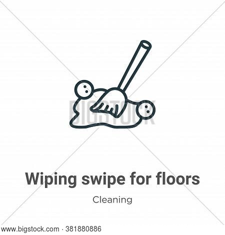 Wiping swipe for floors icon isolated on white background from cleaning collection. Wiping swipe for