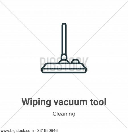 Wiping vacuum tool icon isolated on white background from cleaning collection. Wiping vacuum tool ic