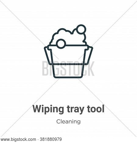 Wiping tray tool icon isolated on white background from cleaning collection. Wiping tray tool icon t
