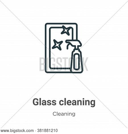 Glass cleaning icon isolated on white background from cleaning collection. Glass cleaning icon trend